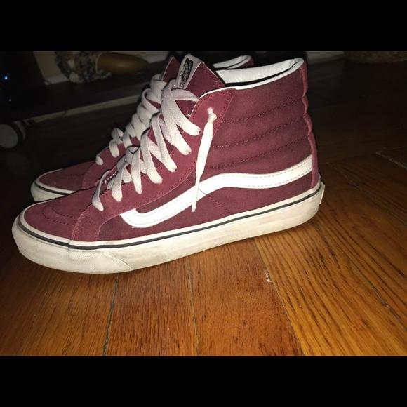 """f62a6b606161 Vans Shoes - """"SK8-HI"""" Vans -MADDER BROWN TRUE WHITE"""